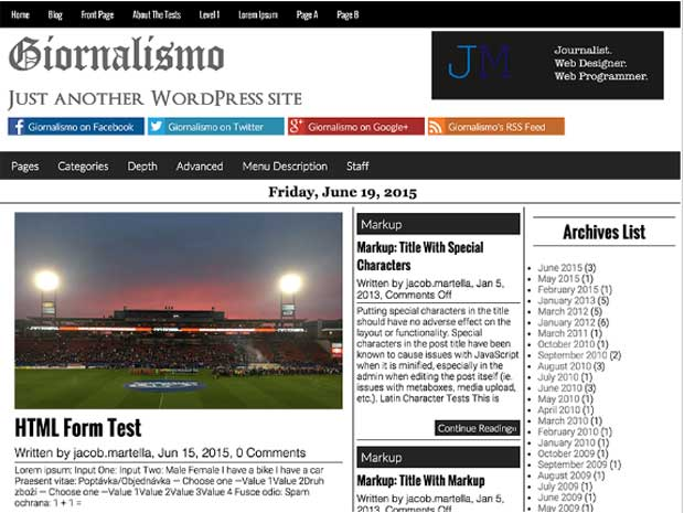 Giornalismo WordPress Theme