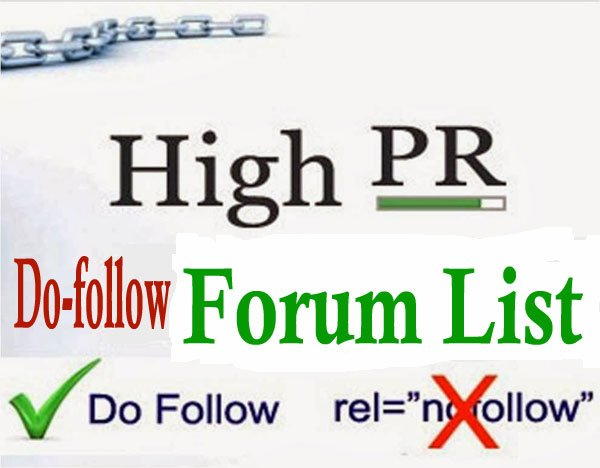 High PR Dofollow Forum List