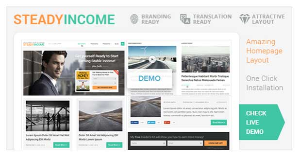 SteadyIncome Theme Review
