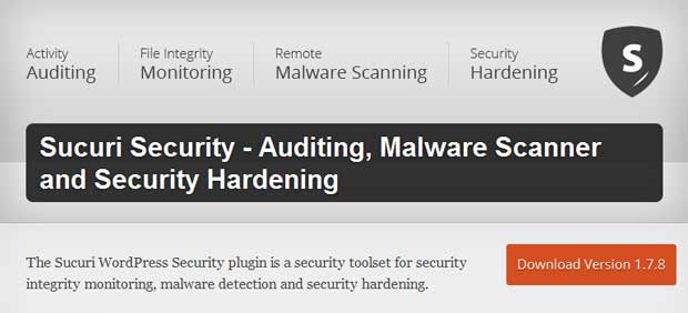Sucuri Security - Auditing, Malware Scanner and Security Hardening