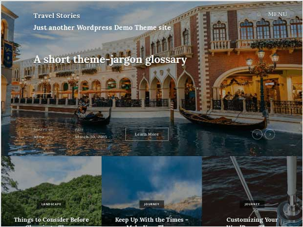 Travel Stories - Free WP Theme