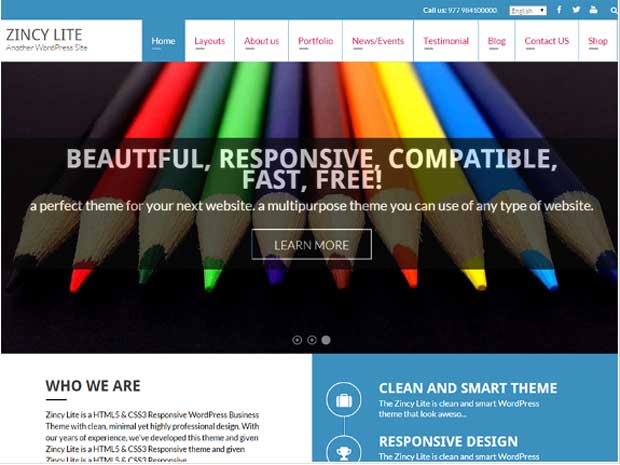 Zincy Lite - Free WordPress Theme
