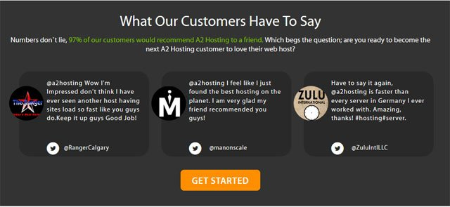 A2Hosting Customer Reviews