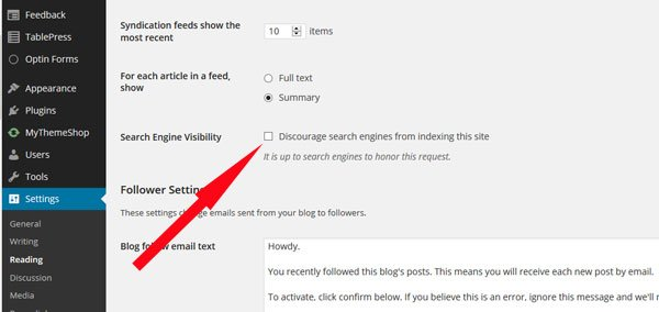 How to Allow Search Engines to Index Your Blog