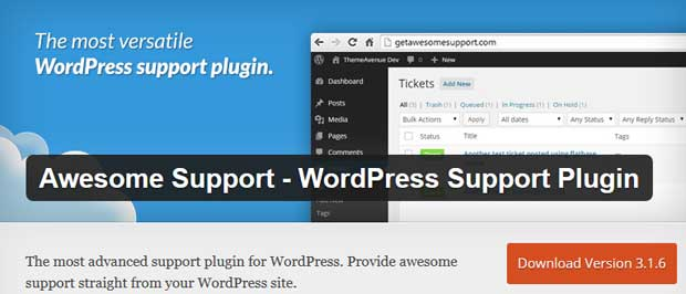 Awesome Support - WordPress Support Plugin