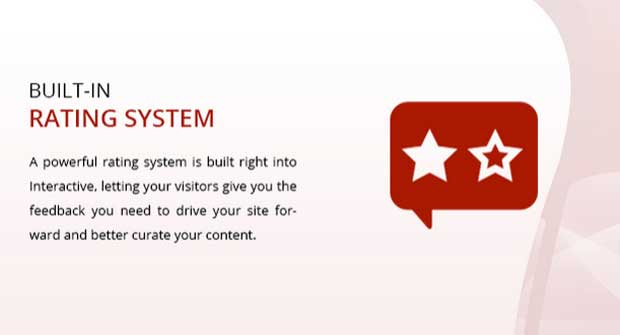 Built-in rating system with Interactive