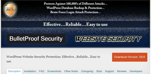Bulletproof WordPress Security Plugin