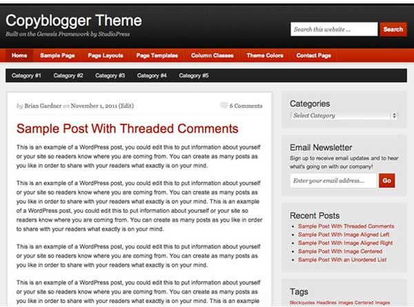 Copyblogger Child Theme