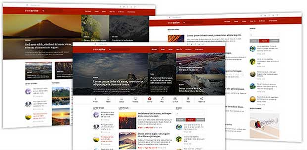 Multiple and Stylish Homepage Layouts in Interactive Theme