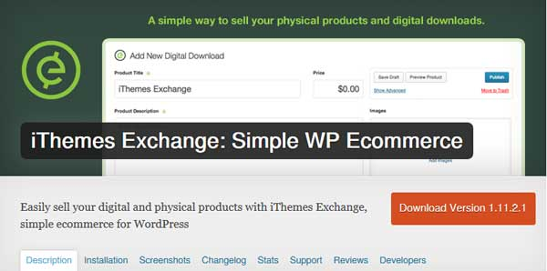 iThemes Exchange - Simple WP Ecommerce