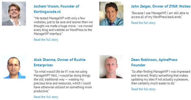 ManageWP Customer Reviews