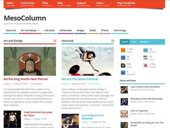 mesocolumn-free-wordpress-theme