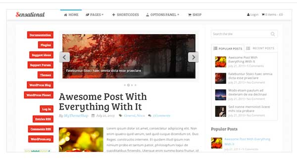 Sensonational WordPress blog Theme