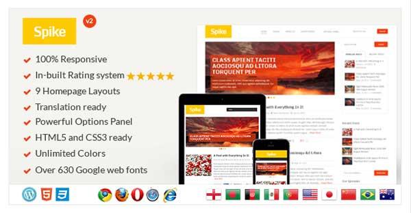 Spike Responsive WordPress Blog Theme