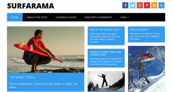 Surfarama Free WordPress Thems