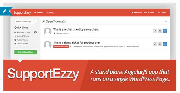 SupportEzzy Ticket System - WordPress Plugin