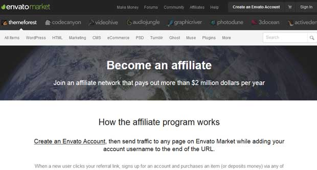 Themeforest Affiliate Program