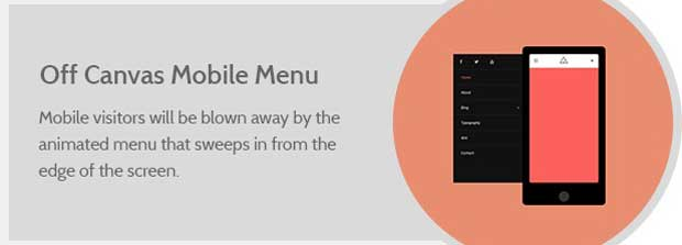 WordX Theme Off-canvas Mobile Menu